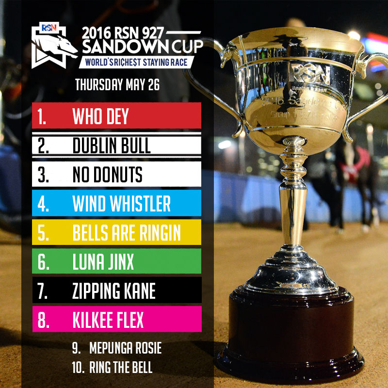 SANDOWN CUP BOX DRAW