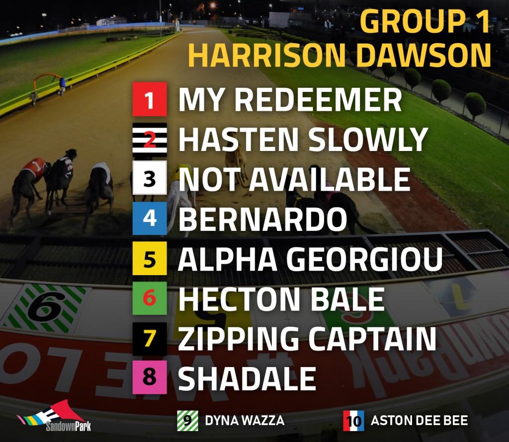 Harrison-Dawson box draw 2018