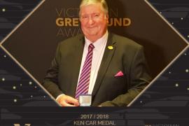 Sandown chairman Neil Brown named Ken Carr Medalist